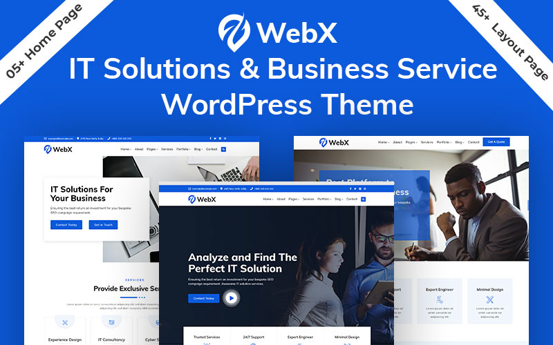 """WebX - Technology & Business Solution Service"" thème WordPress adaptatif #124517"