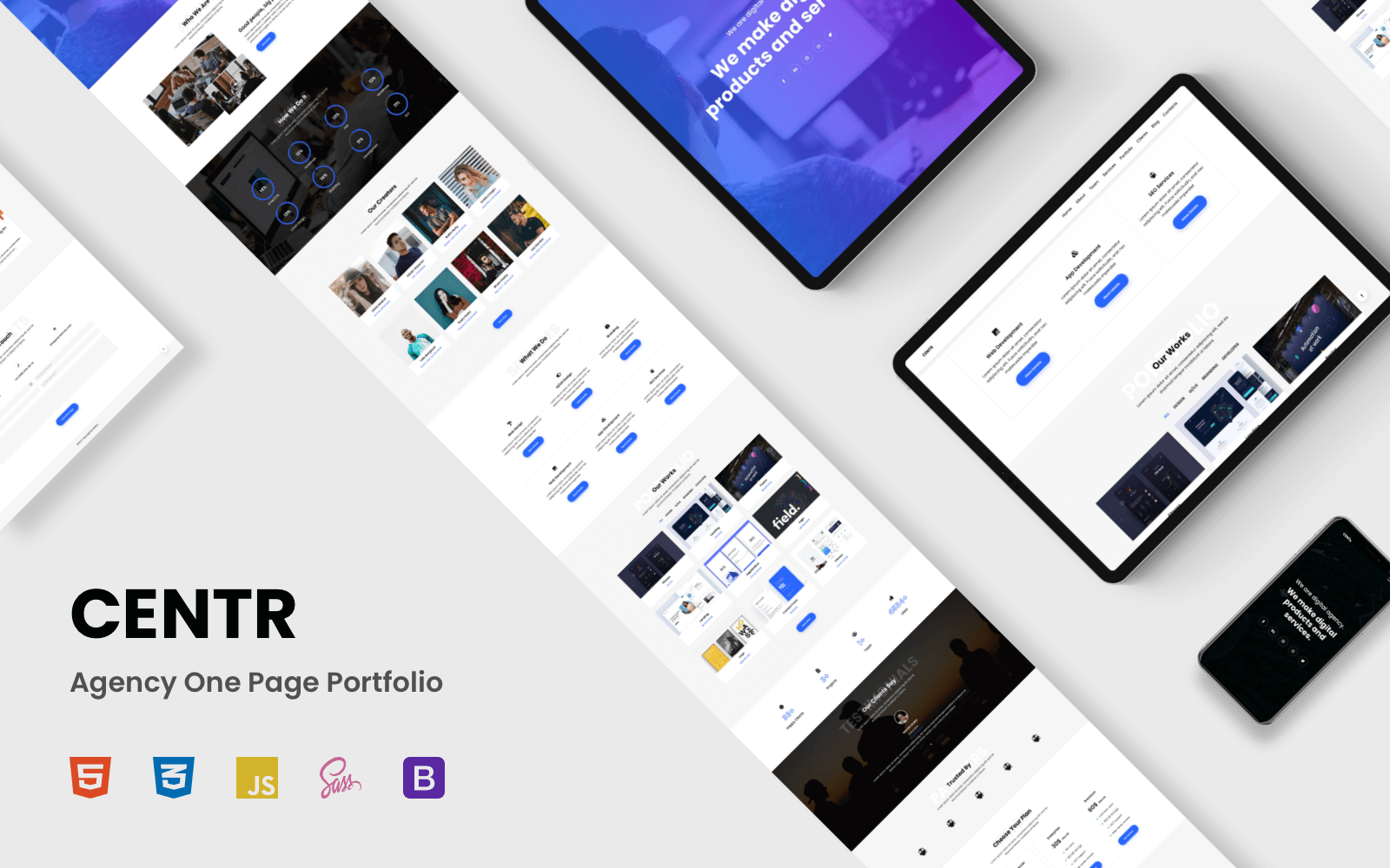 CENTR - Portfolio Landing Page Template