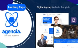 Agencia | Digital Agency Landing Page Template