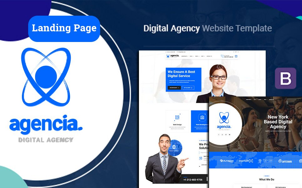 Responsivt Agencia | Digital Agency Landing Page-mall #124754