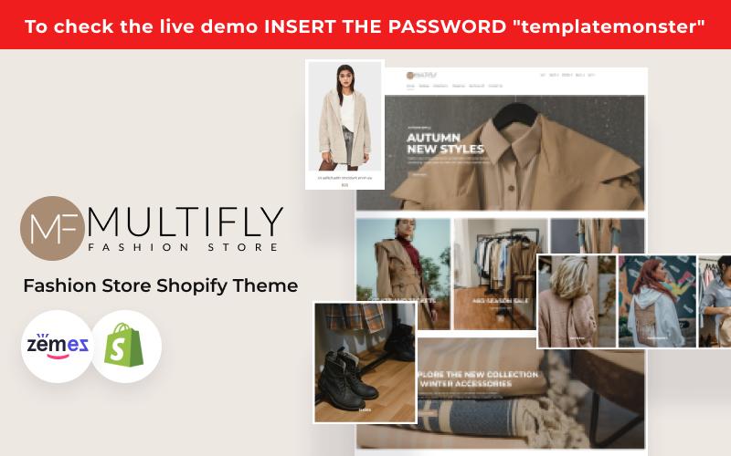 """Responzivní Shopify motiv """"Multifly - Modern Fashion Store Template"""" #124755"""