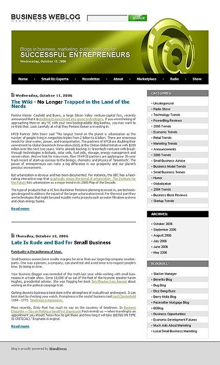 Тема (шаблон) для Wordpress (12549)