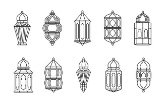 Decorative Line Lantern Set