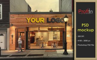 3D cafe sign