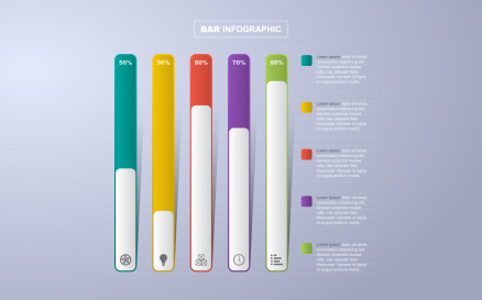 Analytic Statistical Graph Infographic Element