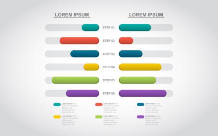 Bar Chart Financial Infographic Element