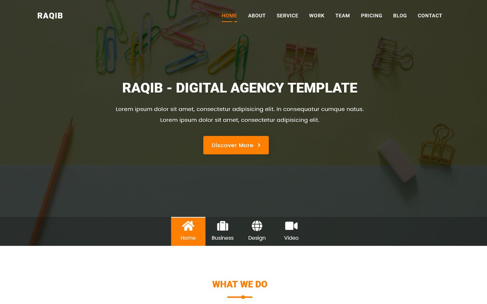 Responsivt Ar-Raqib - Busniess & Consulting Agency Landing Page-mall #125228