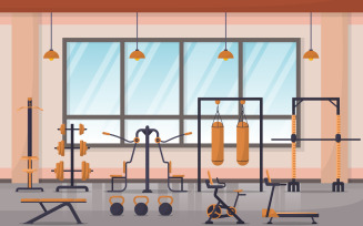 Sport Gym Center - Illustration