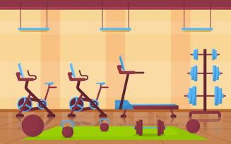 Sport Gym Interior - Illustration