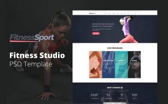 FitnessSport - Fitness Studio Website Design Free