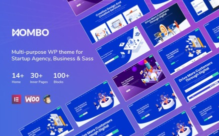 Mombo - Multipurpose Startup Agency and SaaS WordPress Theme