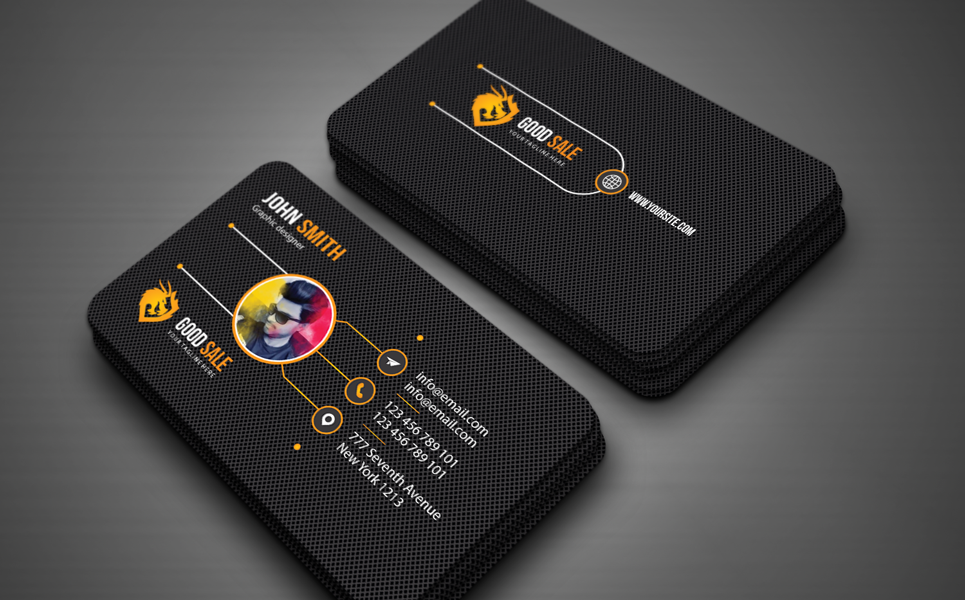 """Business card"" design d'Entreprise  #125635"