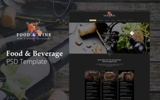 FoodWine - Food And Beverage Website Design Free PSD Template