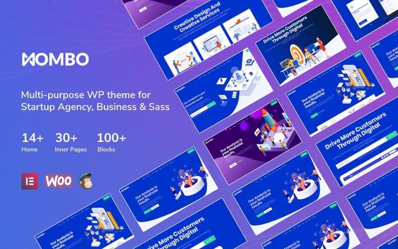 """Mombo - Multipurpose Startup Agency and SaaS"" - адаптивний WordPress шаблон №125689"