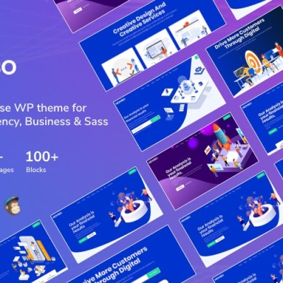 Mombo - Multipurpose Startup Agency and SaaS WordPress Theme #125689