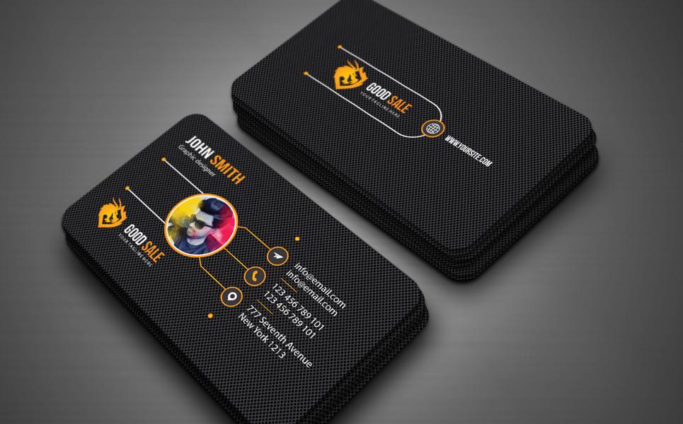 """Plantilla De Identidad Corporativa """"Business card"""" #125635"""