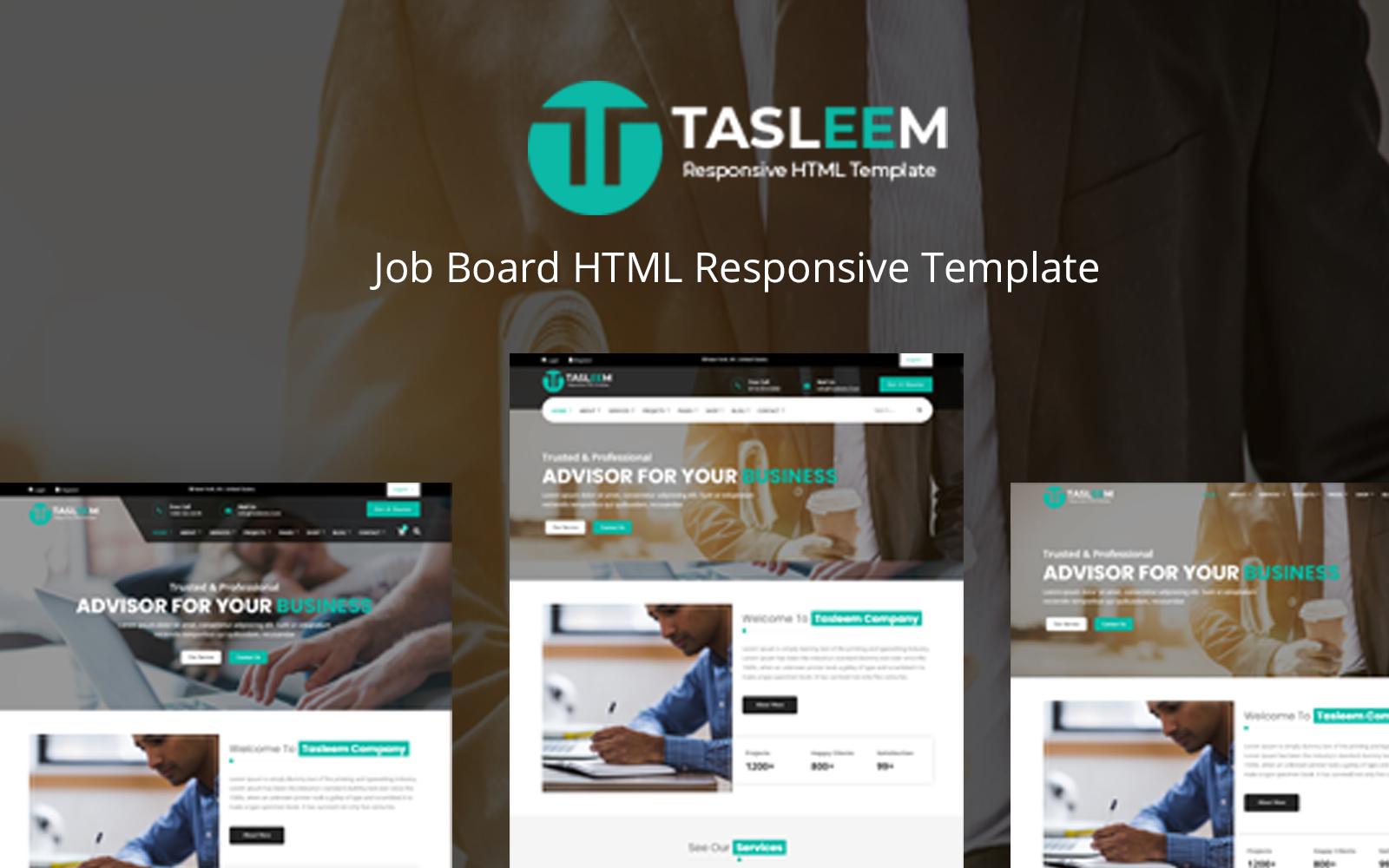 """Tasleem - HTML Responsive Multi-Purpose"" - адаптивний Шаблон сайту №125682"