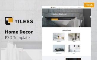 Tiless - Home Decor Mockup Free PSD Template