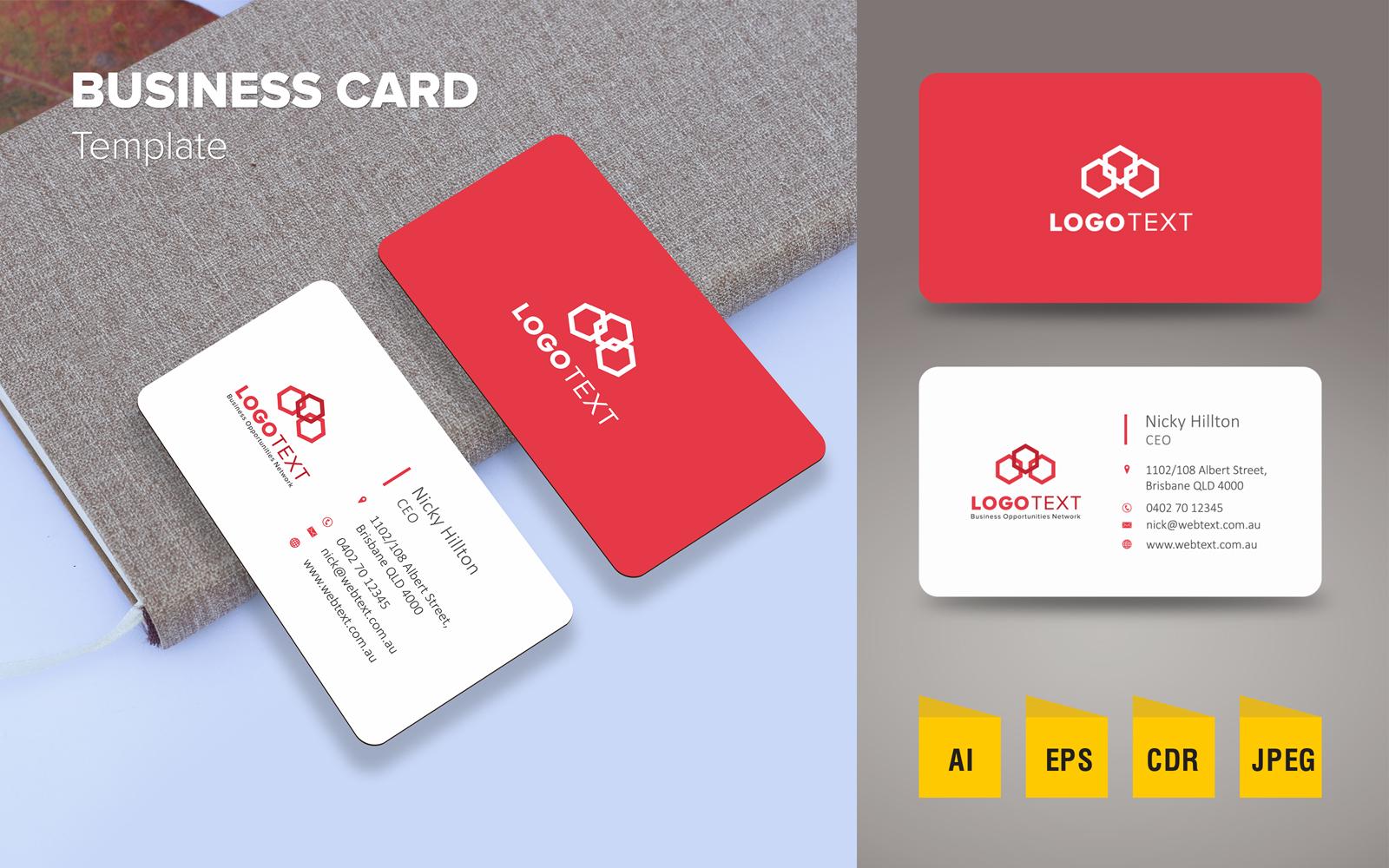 """Elegant Business Card Design"" 企业设计模板 #125790"