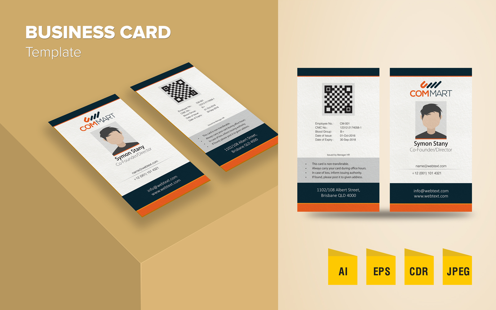 """Elegant Business Card Design"" 企业设计模板 #125792"