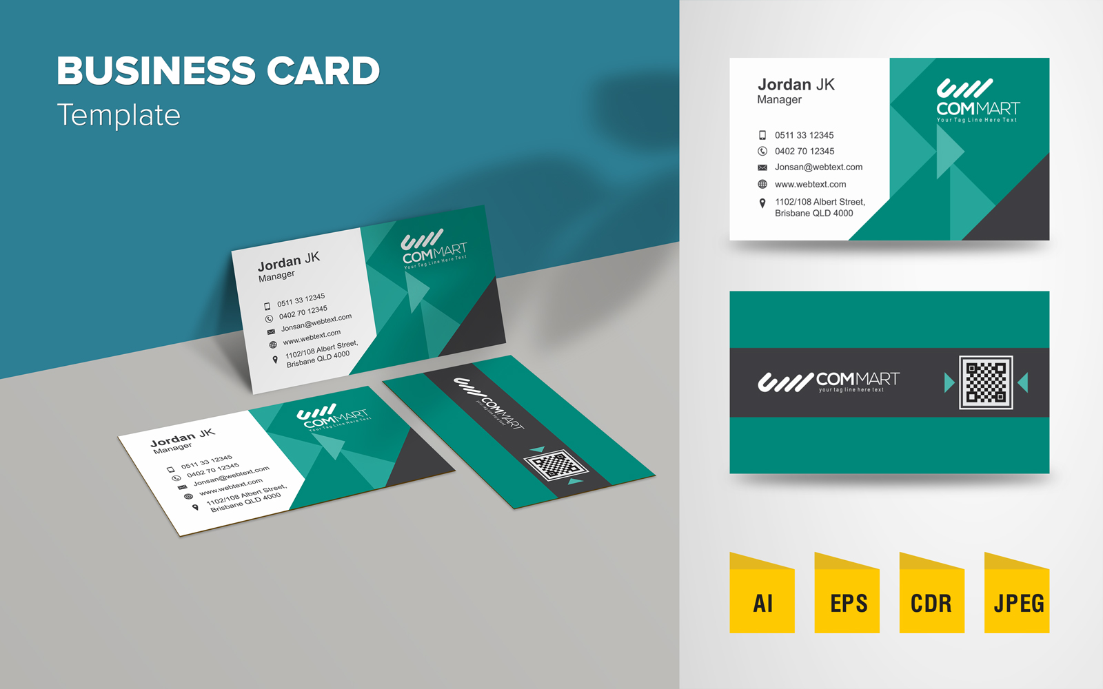 """Plantilla De Identidad Corporativa """"Elegant Business Card Design"""" #125762"""