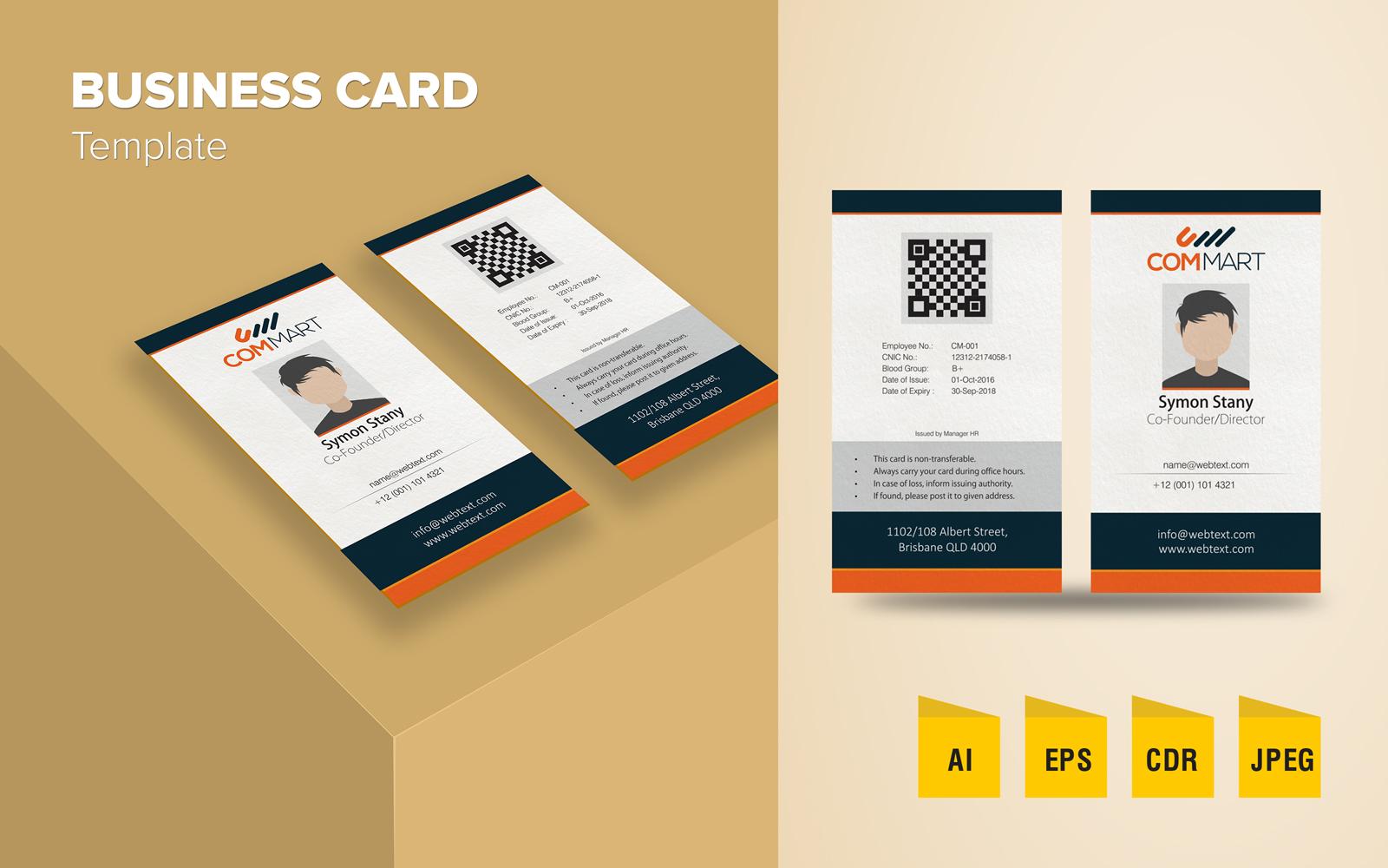 """Plantilla De Identidad Corporativa """"Elegant Business Card Design"""" #125792"""