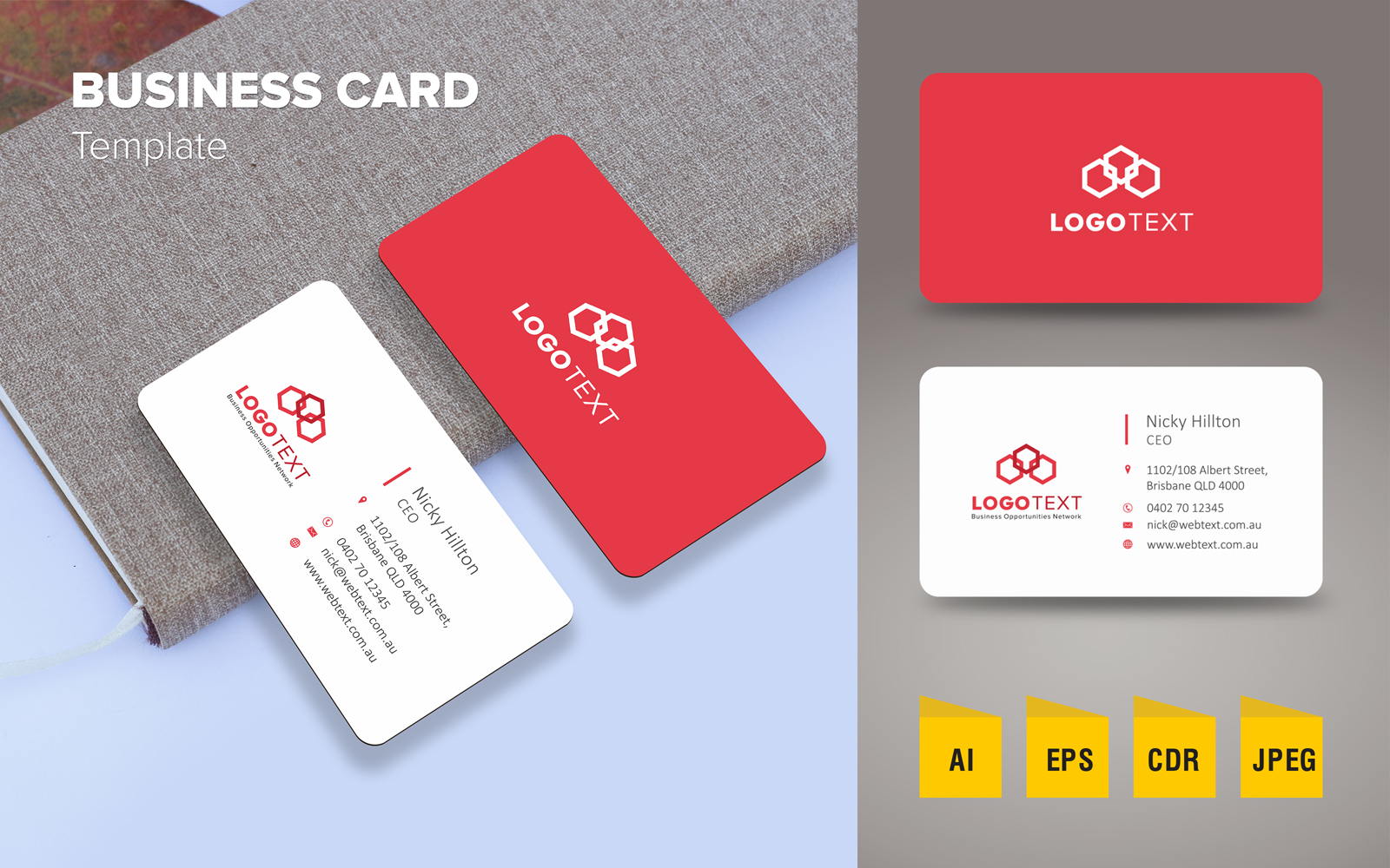 "Šablona firemního stylu ""Elegant Business Card Design"" #125790"