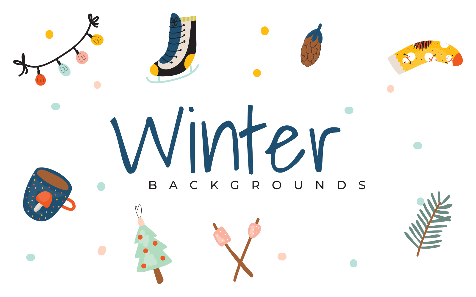 """10 Free Winter"" - Background №125958"