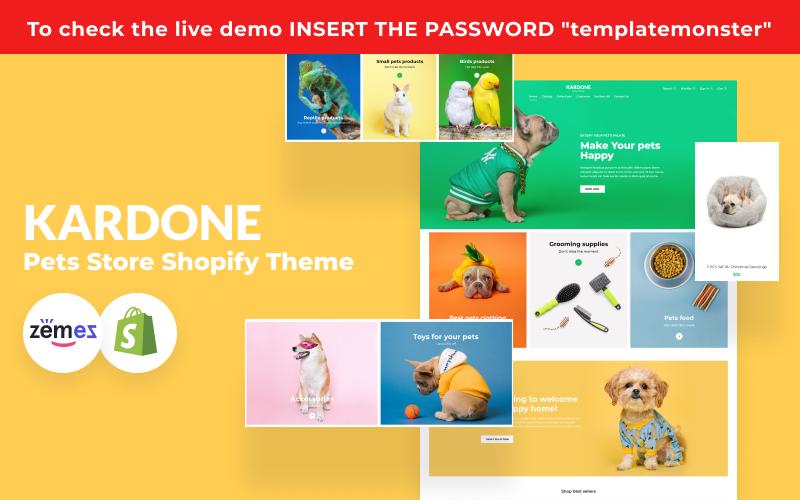 """KarDone - Pets Store"" - адаптивний Shopify шаблон №125961"