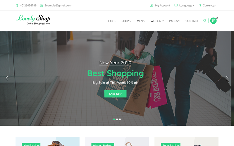 """LovelyShop - eCommerce Bootstrap HTML"" - адаптивний Шаблон сайту №125955"
