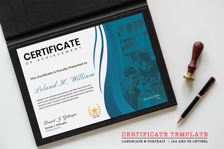 Modern Corporate Template de Certificado №125938