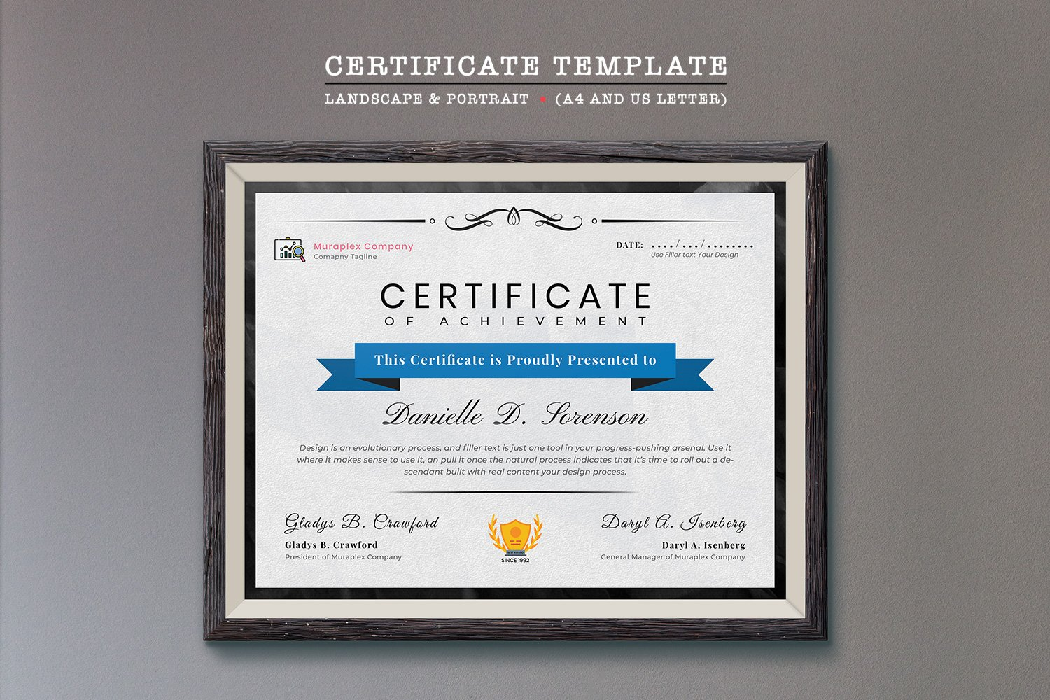 Professional Certificate Template 125934