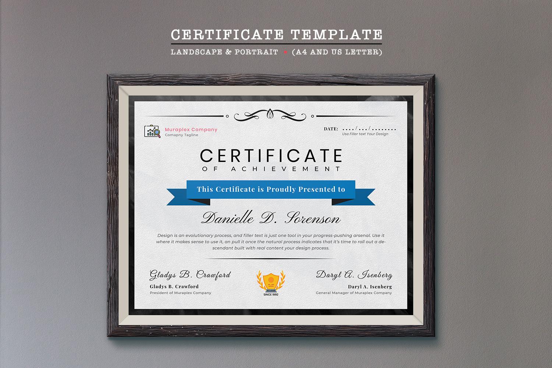 """""""Professional"""" modèle de certificat  #125934"""
