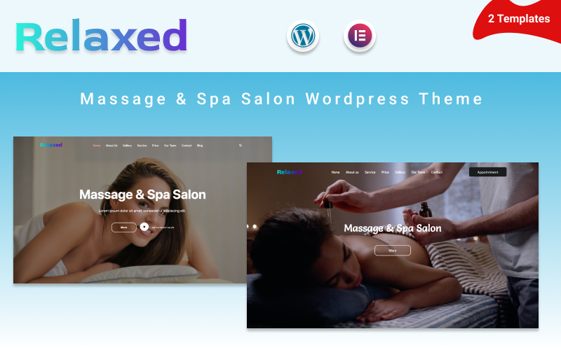 """Relaxed - Massage & Spa Salon"" Responsive WordPress thema №125952"