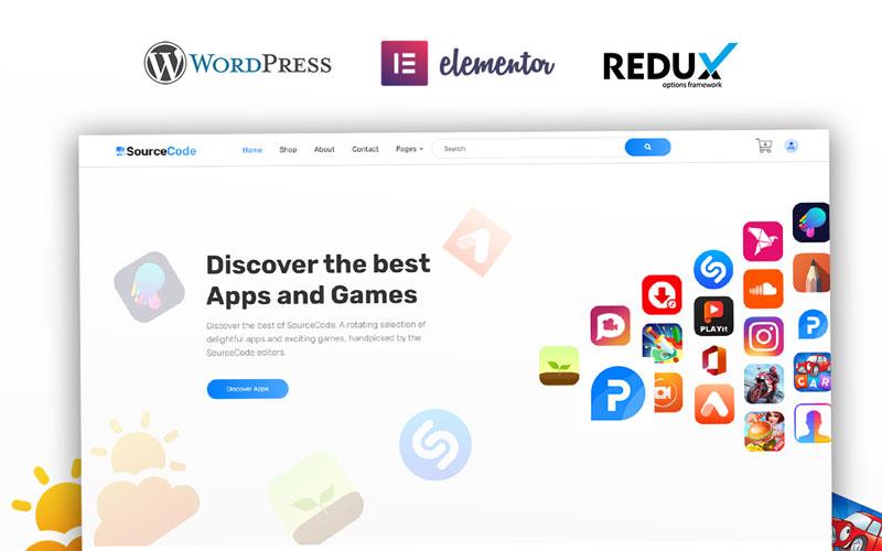 Reszponzív SourceCode - App Store Marketplace WooCommerce sablon 125954