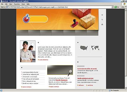 HTML HOMEPAGE SCREENSHOT
