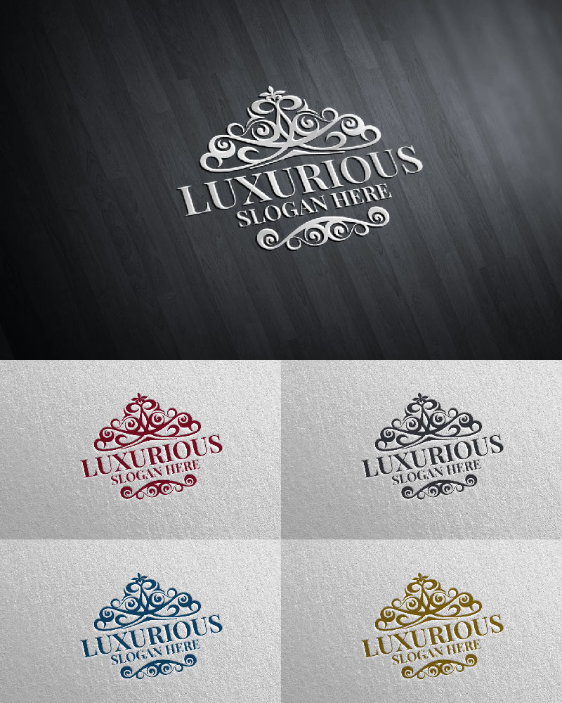 """Luxurious Royal 19"" logo标志模板 #126108"
