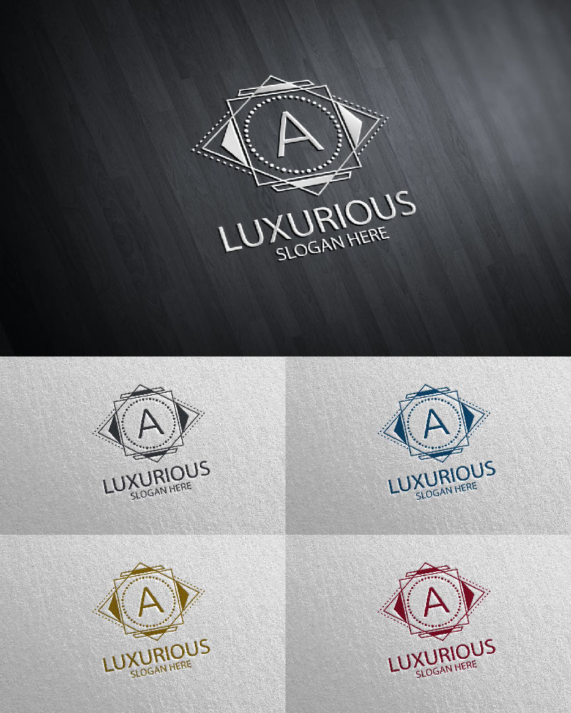"""Luxurious Royal 21"" logo标志模板 #126110"