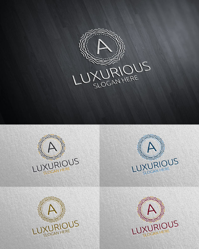 """Luxurious Royal 22"" logo标志模板 #126106"