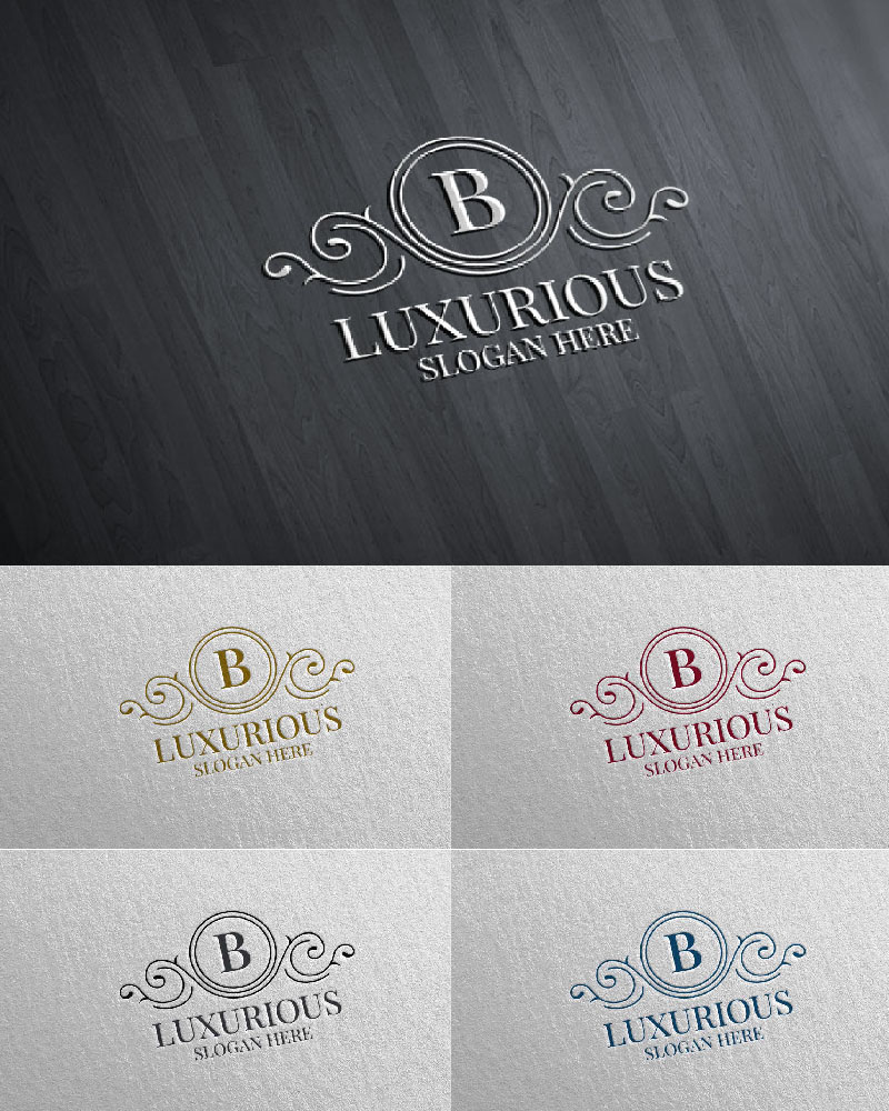 """Luxurious Royal 4"" logo标志模板 #126183"