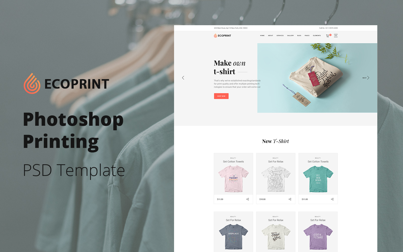 """Ecoprint - Photoshop Printing Services"" PSD Template №126246"