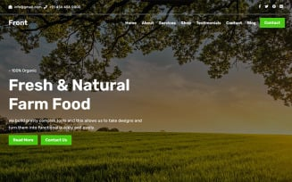 Front - Agriculture & Organic Landing Page Template