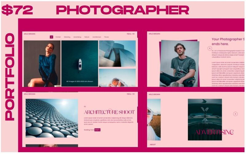 Responsywny szablon strony www WINK - Photographer Portfolio Multipurpose #126241