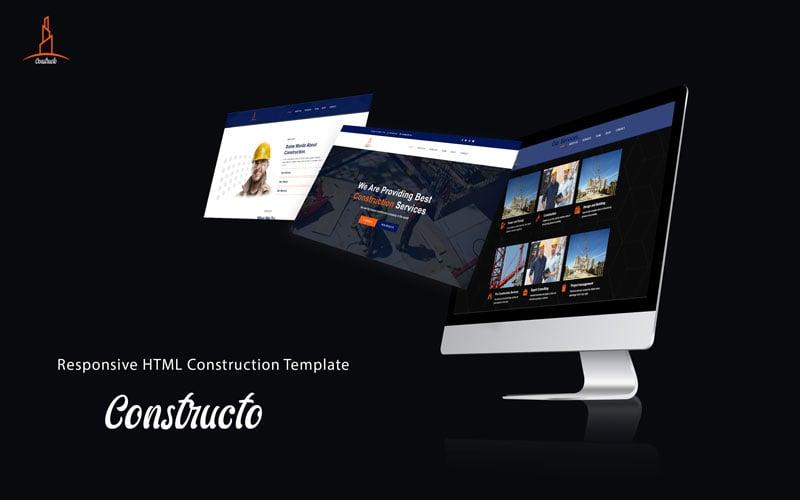 Reszponzív Constructo - Construction Weboldal sablon 126237