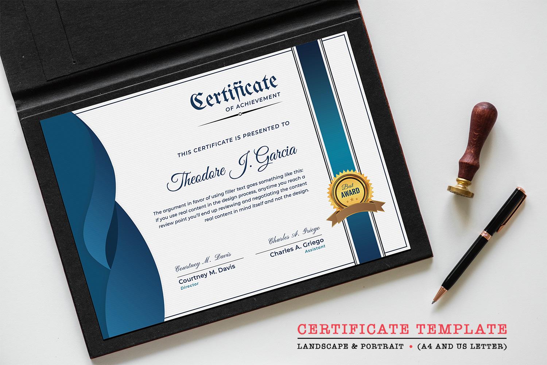 """Zertifikat-Vorlage namens """"Achievement"""" #126222"""