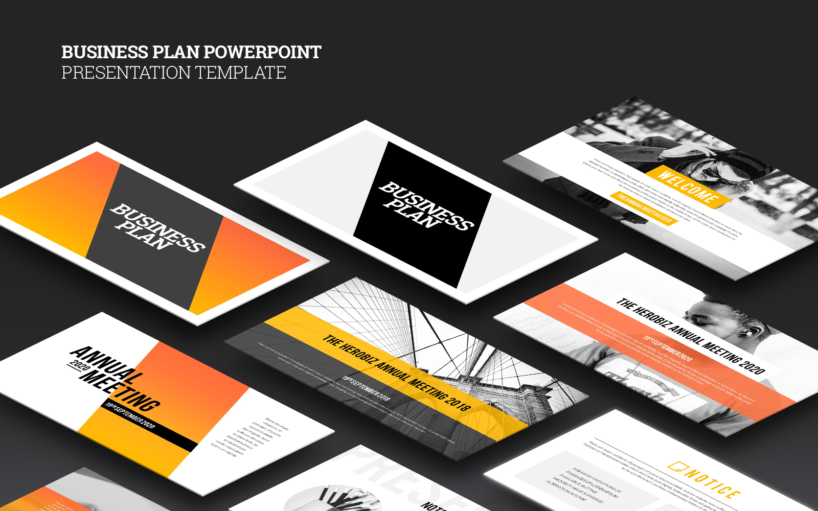 Business Plan Presentation PowerPoint sablon 126362