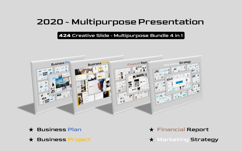 """Multipurpose Bundle - Creative Business"" - PowerPoint шаблон №126364"