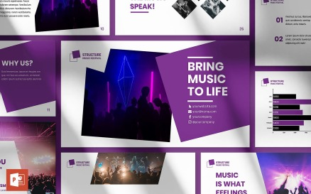Music Festival Presentation PowerPoint template PowerPoint Template