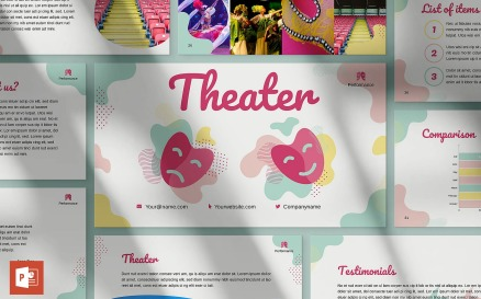 Theater Presentation PowerPoint template PowerPoint Template