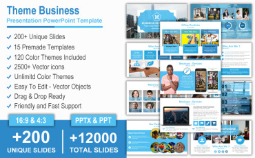 Theme Business Presentation PowerPoint template